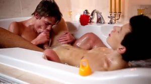 chicos baño
